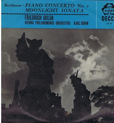 Beethoven Piano Concerto No 1 Moonlight/ 1960 Uk Press