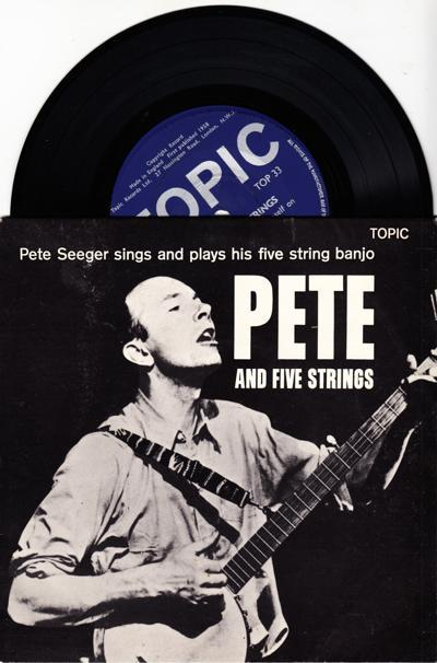 Pete And Five Strings/ 1958 6 Track Uk Ep With Cover