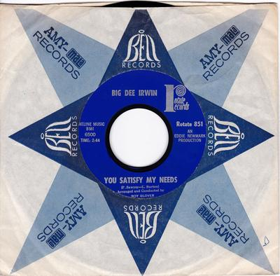 Big Dee Irwin - You Satisfy My Needs / I Wanna Stay Right Here With You - Rotate 851 DJ