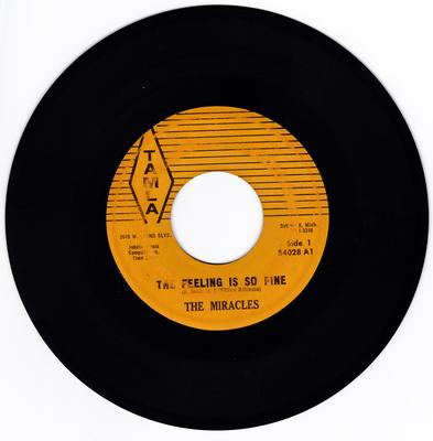 Miracles - The Feeling Is So Fine / You Can Depend On Me - Tamla 54028