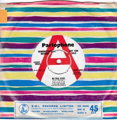Jive Five - My True Story / When I Was Single - UK Parlophone DEMO