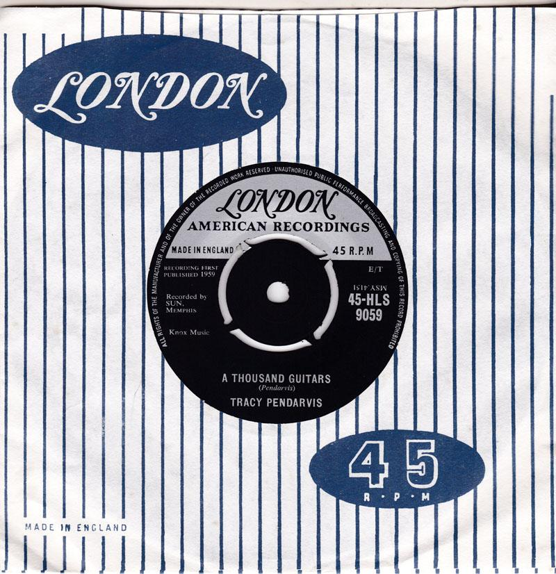 Tracy Pendarvis - A Thousand Guitars / Is It Too Late - London HLS 9059