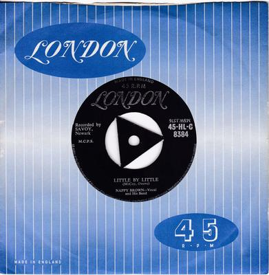 Nappy Brown - Little  By Little / I'm Getting Lonesome - UK London tri