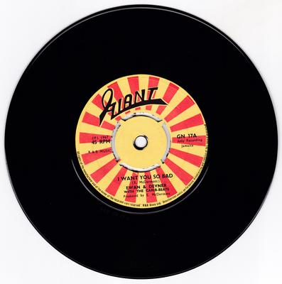 Ewan & Devner with the Carib-beats - I Want You So Bad / I'm Gonna Love You - Giant GN 17