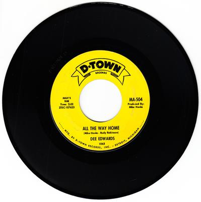 Dee Edwards - All The Way Home / Love, Love, Love - D-Town 1063.