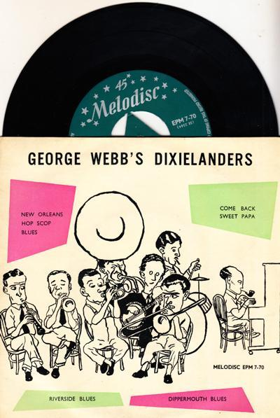 The Origins Of Traditional Jazz/ 1956 Uk 4 Track Ep With Cover
