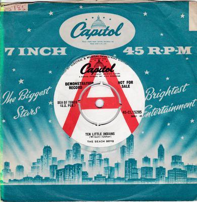 Beach Boys - Ten Little Indians / Country Fair - Capitol CL 15285 DJ