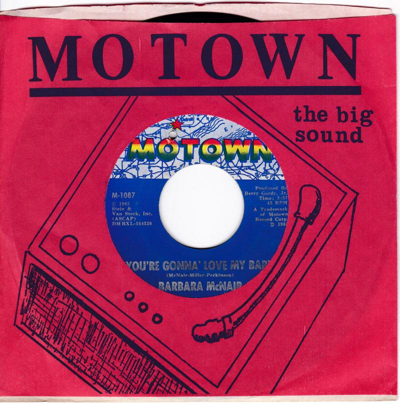 Barbara McNair - You're Gonna Love My Baby / The Touch Of Time - Motown M-1087