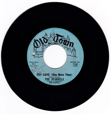 Sparkles - Try Love (One  More Time) / That Boy Of Mine - Old Town 1160
