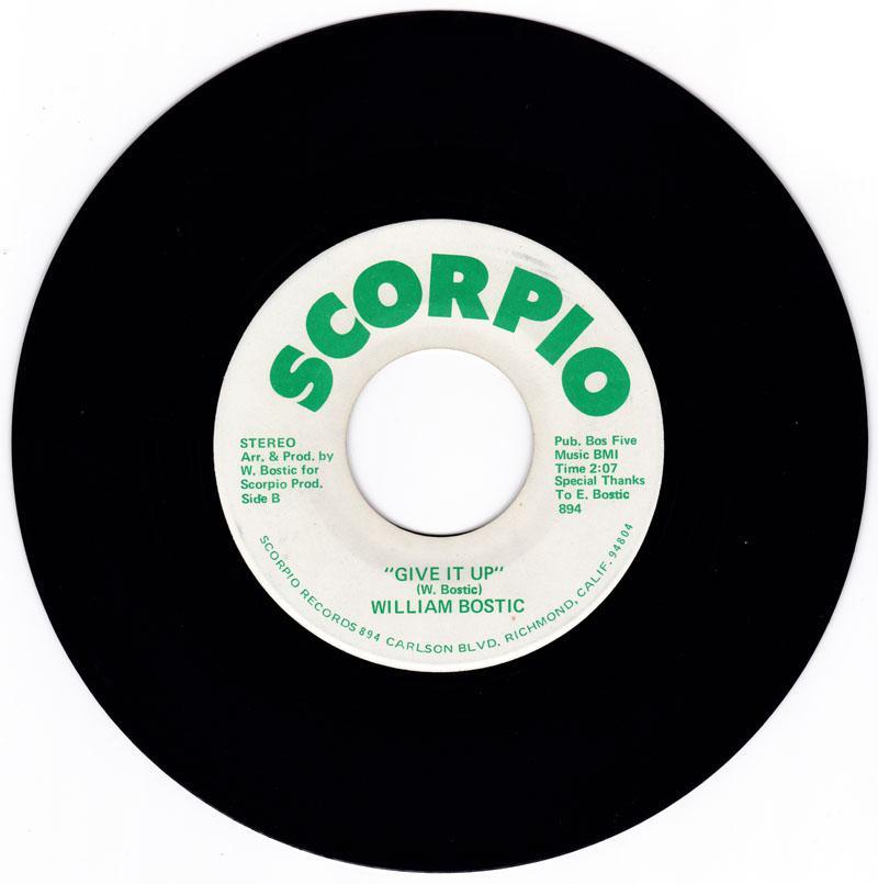 William Bostic - Give It Up / World - Scorpio 894