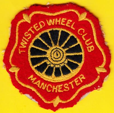 Twisted Wheel - 1968 Blazer Badge - Authentic never worn 1968 badge - Twisted Wheel 1968