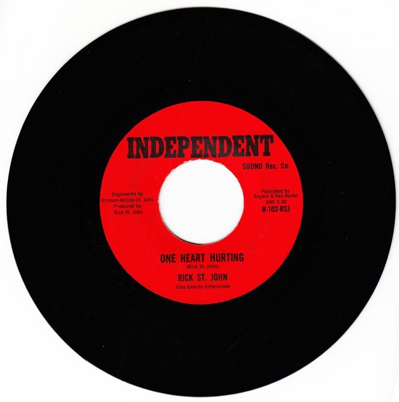 Rick St. John - One Heart Hurting / You've Got To Fall In Love - part 3 Independent102-RSJ