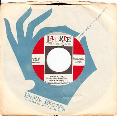 Dean Parrish - I'm On My Way / Watch Out! - Laurie LR 3418