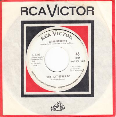 Susan Barrett - What's It Gonna Be / It's No Secret - RCA 47-9296 DJ