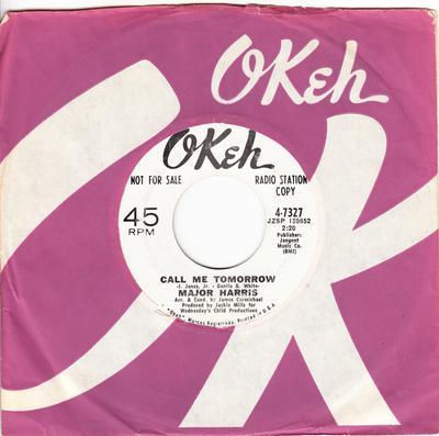 Major Harris - Call Me Tomorrow / Like a Rolling Stone - Okeh 4-7327 DJ