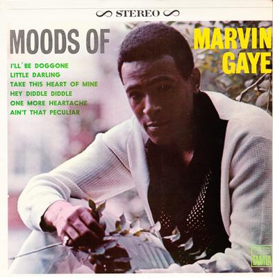 """Marvin Gaye - Moods Of: / 7"""" 6 track mini LP with cover, jukebox title sheet and 4 thumbnail LP covers - Tamla TM 60266"""