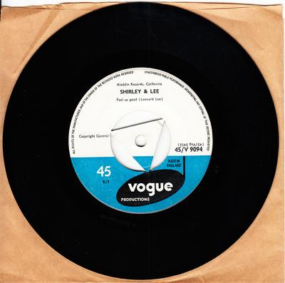 Shirley and Lee - Feel So Good / You'd Be Thinking Of Me - Vogue Productions V 9094