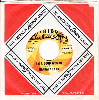 Barbara Lynn - I'm A Good Woman / Running Back - Tribe 8316 DJ
