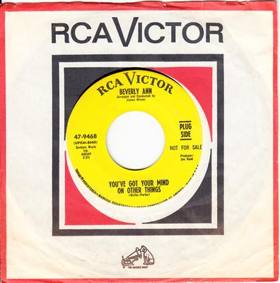 Beverley Ann - You've Got Your Mind On Other Things / Until You - RCA 47-9468 DJ