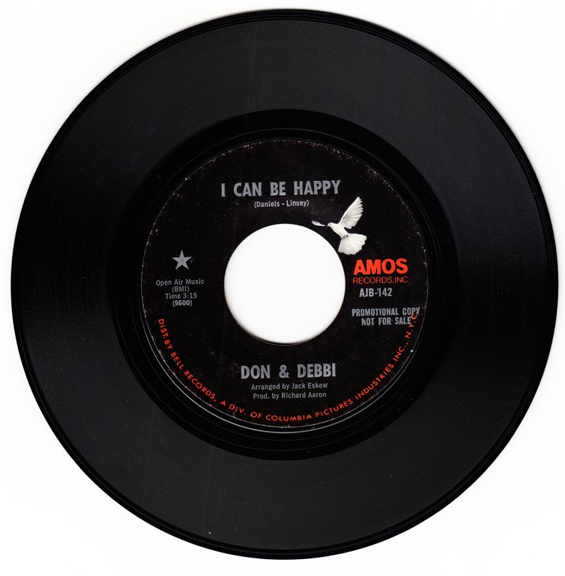 Don & Debbi - I Can Be Happy / Shut Out - Amos AJB 142