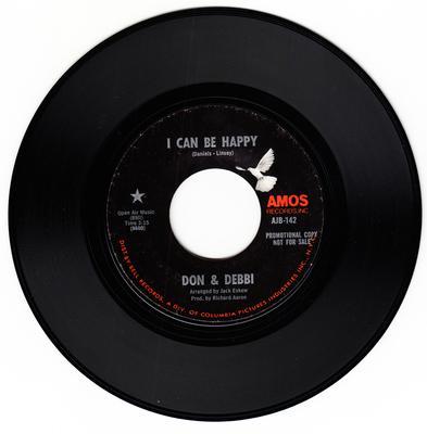 Don & Debbi - I Can Be Happy / Shut Out - Amos AJB 142