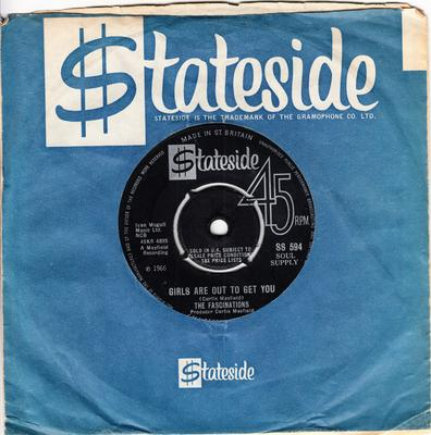 Fascinations - Girls Are Out To Get You / You'll Be Sorry - Stateside SS 594
