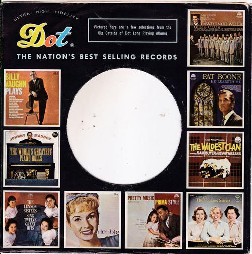 Dot 45 Sleeve 1959 - 1962/ Usa Original Company Sleeve