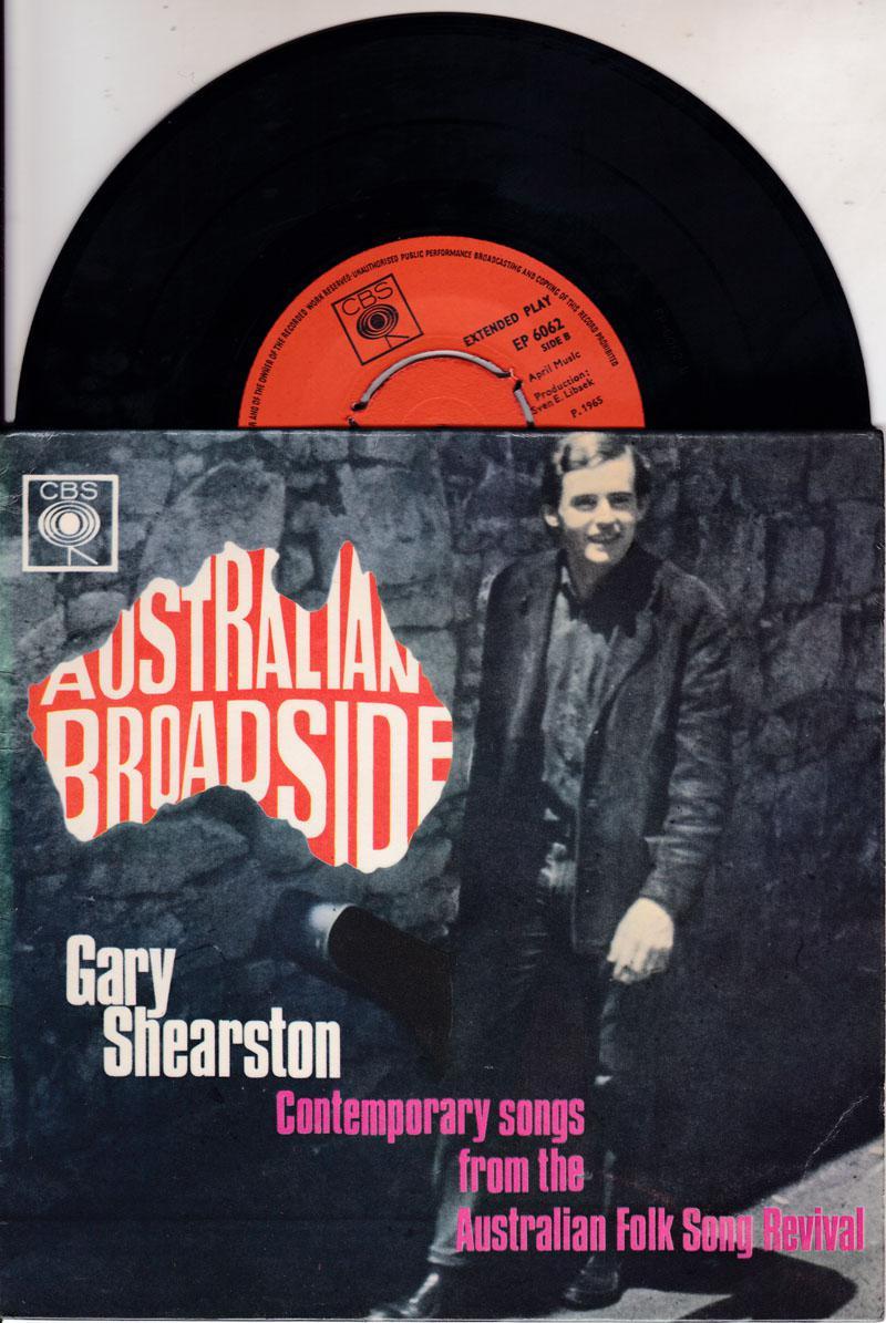 Australian Broadside/ 1965 Uk 4 Track Ep With Cover