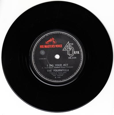 Fourmyula - I Dig Your Act / Alice Is There - HMV 334 New Zealand