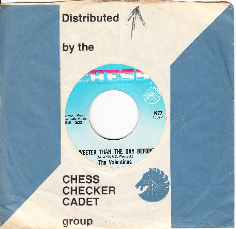 Valentinos - Sweeter Than The Day Before / Let's Get Together - Chess 1977