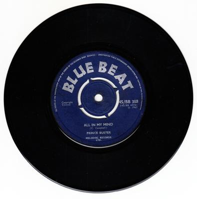 Prince Buster - Dance Cleopatra / All In My Mind - Blue Beat BB 388