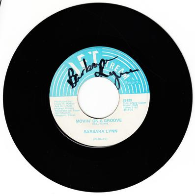 Barbara Lynn - Movin' On a Groove / Disco Music - Jetstream JS 829 autographed copy