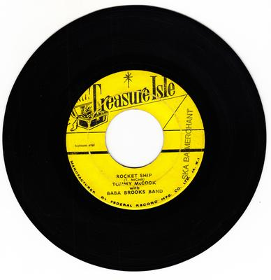 Tommy McCook with Baba Brooks Band c/w Justin Hines and the Dominoes - Rocket Ship / Turn Them Back - Treasure Isle 6765