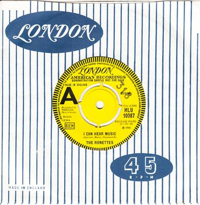 Ronettes - I Can Hear Music / When I Saw You - London HLU 10087 DJ