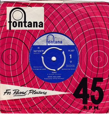 Eddie Holland - Jamie / Take A Chance On Me - Fontana H 387