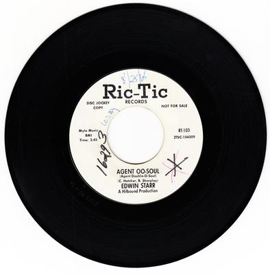 Edwin Starr - AGENT OO-SOUL / blank - Ric Tic 103 DJ