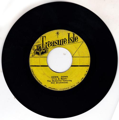 Skatalites featuring Don Drummond - Down, Down / Street Corner - Treasure Isle FDR 5004