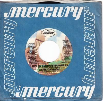 Alfie Davison - Love Is A Serious Business / Knock On Any Door - Mercury 76001