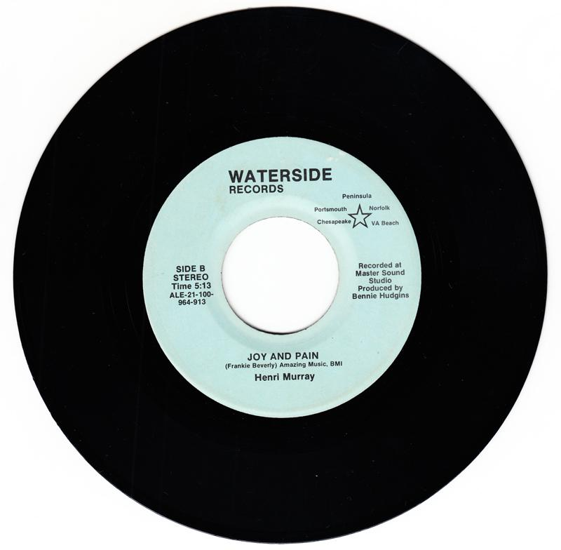 Henri Murray - Joy And Pain / You And Me - Waterside ALE-21-100