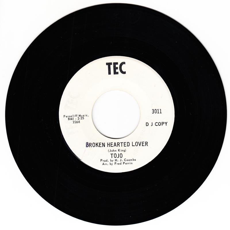 Tojo - Broken Hearted Lover / Blue Lover - Tec 3011 DJ