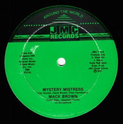 Mack Brown  Mystery Mistress / same: instrumental - JMC 112