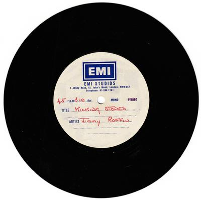"Jimmy Ruffin -  Kicking Stones / blank - EMI 7"" acetate"