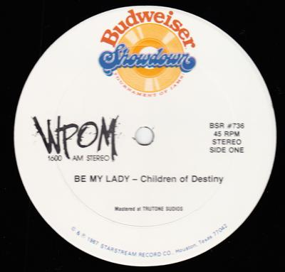 Children Of Destiny c/w Trevor Blair - Be My Lady / Everything Will Be Alright - Budweiser BSR 736