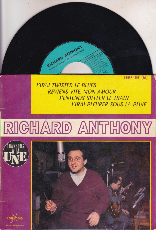 Richard Anthony/ 1962 French 4 Track Ep In Cvr