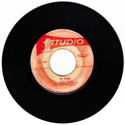 Jackie Mittoo c/w Trevor Clarke - Hi Jack / Sufferation - Studio 1 SO 3085