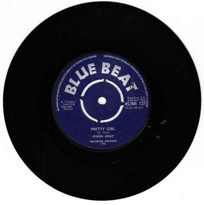 Owen Gray - Pretty Girl / Twist So Fine - Blue Beat BB 127