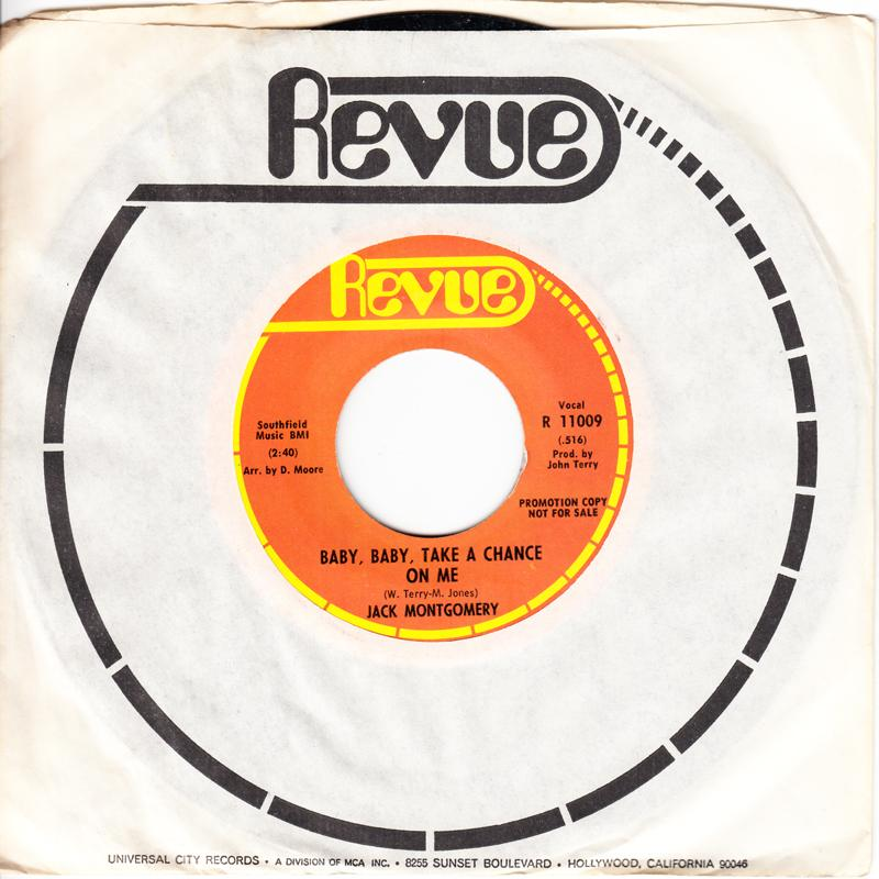 Jack Montgomery - Baby, Baby, Take a Chance On Me / same: 2:40 version - Revue R 11009 DJ