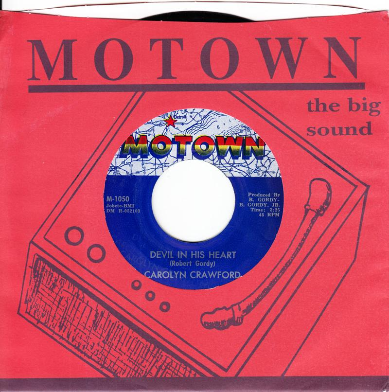 Carloyn Crawford - Forget About Me / Devil In His Heart - Motown M 1050