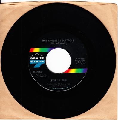 Little Richie - Just Another Heartache / I Was I Was A Baby - Sound Stage 7 2554 DJ