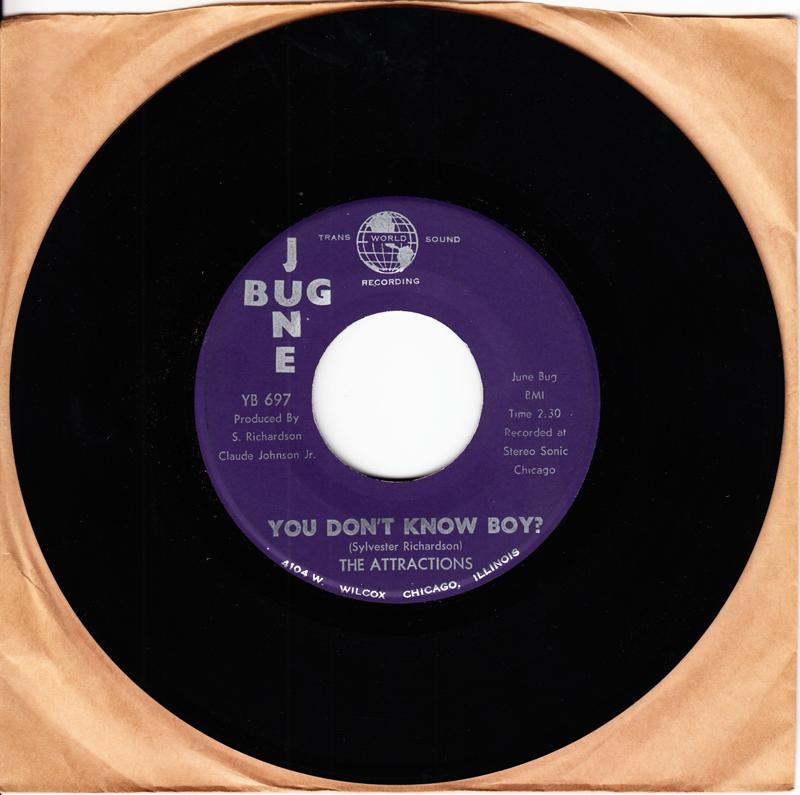 Attractions - You Don't Know Boy / Think Back - June Bug YB 697
